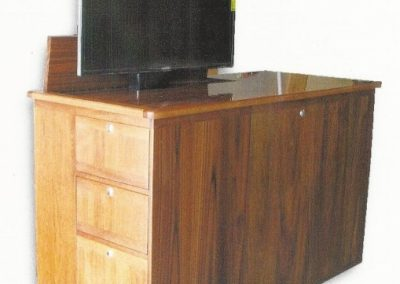 marine teak cabinets with tv-2