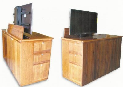 marine teak cabinets with tv