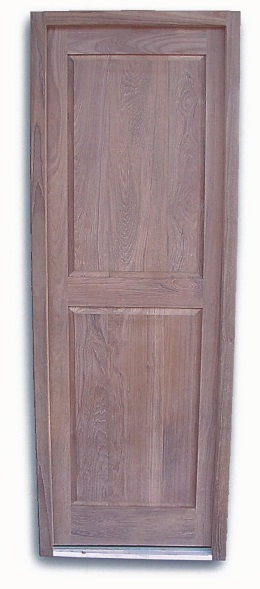 marine teak doors with jam