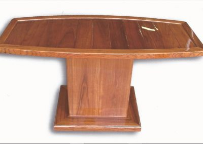 Solid Teak Table Top Original Plank Style with Teak Pedestal